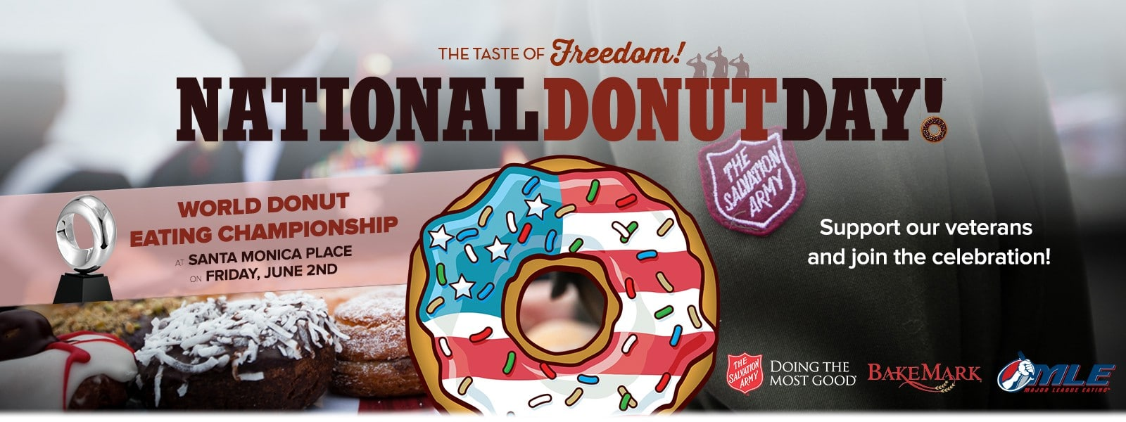 Join other Gamers on National Donut Day to honor veterans.