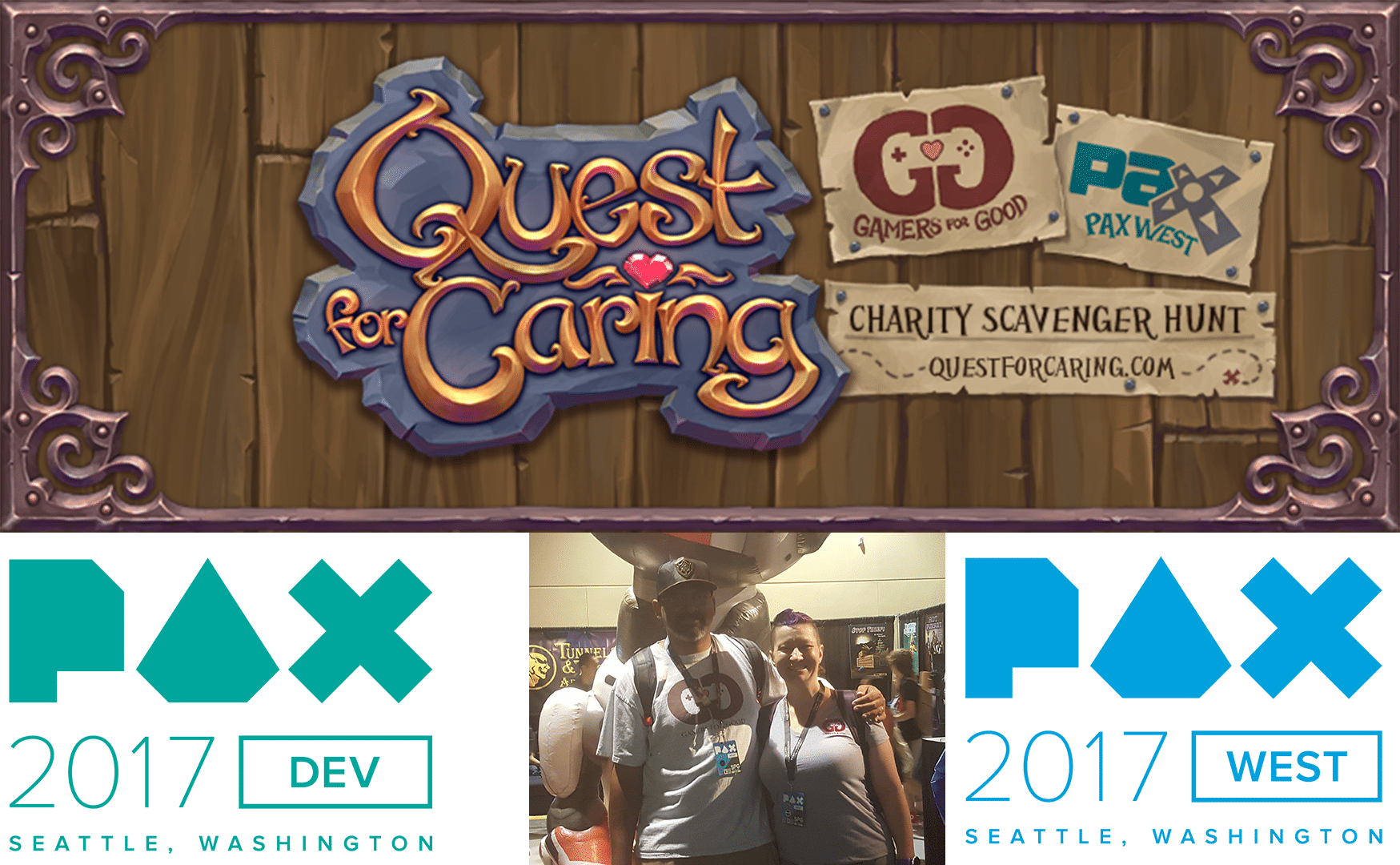 Gamers for Good donates $30K Thousand dollars and puts gamers on a quest @ PAX West 2017